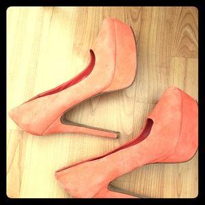 Jessica Simpson Coral Pink Heels